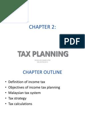 Ch 2 Tax Planning Employee Benefits Tax Avoidance