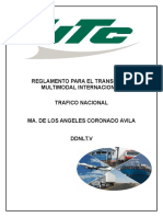 Act. 2 Reglamento de Transporte Multimodal Internacional.