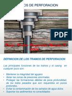 Cañeria de Revestimiento y Tramos de Perforacion