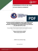 Santos Maricela Pre Factibilidad Centro Bienestar Pacientes Diabetes Mellitus Lima Metropolitana