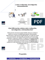 Diferencias Entre Evaluación, Investigación Sistematización