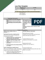lesson plan template   letter m