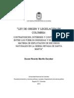 621795.2013 Ley de Origen y Legislación en Colombia Tesis UNAL