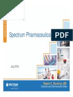 Spectrum Pharmaceuticals Update