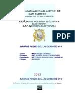Informe Previo 1 - Microelectrónica - Mandujano Cornejo, Vittorino 09190091