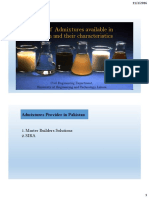 Types of Admixtures Available in Pakistan and Their