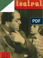 Revista Teatrul, nr. 4, anul VI, aprilie 1961