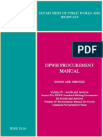 DPWH Procurement Manual - Volume IV