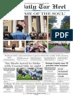 The Daily Tar Heel for Nov. 10, 2016