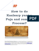 How to Do Kaal Sarp Yantra Puja and Remedy Process?