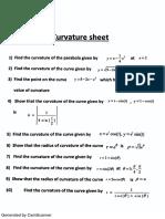 Curvature Sheet