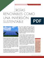 Las Energías Renovables Como Una Opción Sustentable