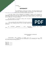 Affidavit of Lessee- VERAGUAS