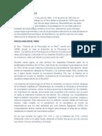 Historia de La Psicoloiga Del Peru