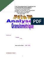 Tp Tmc Analyse Granulometrique