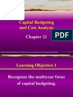 Chapter 21. Capital Budgeting and Cost Analysis (Cost Accounting)