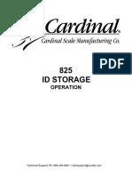 825 ID Storage Operation