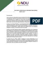 Plan de Trabajo de Nueva Democracia Universitaria (MD FEPUC)