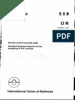 UIC 558 Telecomenzi Si Cablu de Date