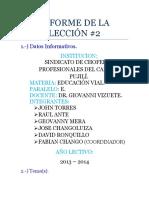 Informe Del Taller Educacion Vial