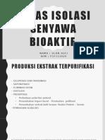 Tugas Isolasi Senyawa Bioaktif