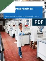 ETH Master Programmes 2014