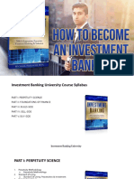 Investment Banking University - How to Become an Investment Banker Free Workshop Presentation