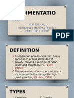 Sedimentation report