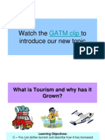 1  the growth of tourism