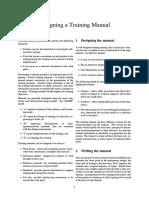 Designing a Training Manual