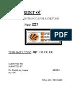 BJT  CB CC CE