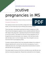 Consecutive pregnancies in MS