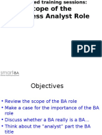 Scope of the BA Role