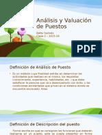 Análisis y Valuación de Puestos