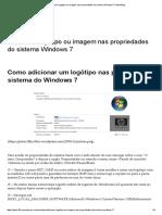 Adicionar Logotipo Ou Imagem Nas Propriedades Do Sistema Windows 7 _ PeterBlog
