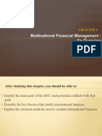 Chapter 1 - Multinational Financial Management - Overview