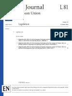 Official Journal of EU #81-2016