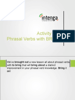 Activities for the Phrasal Verb to Bring.
