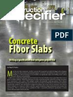 Concrete Floor Specs