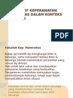 1. Perspektif Keperawatan Maternirtas Dalam Konteks Keluarga