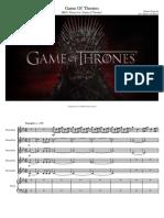 Game of Thrones Flute Quintet Piano
