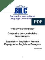 Military Glossary en FR ES