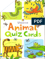 Animal Quiz Cards Usborne Eng