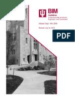 IU BIM Guidelines and Standards