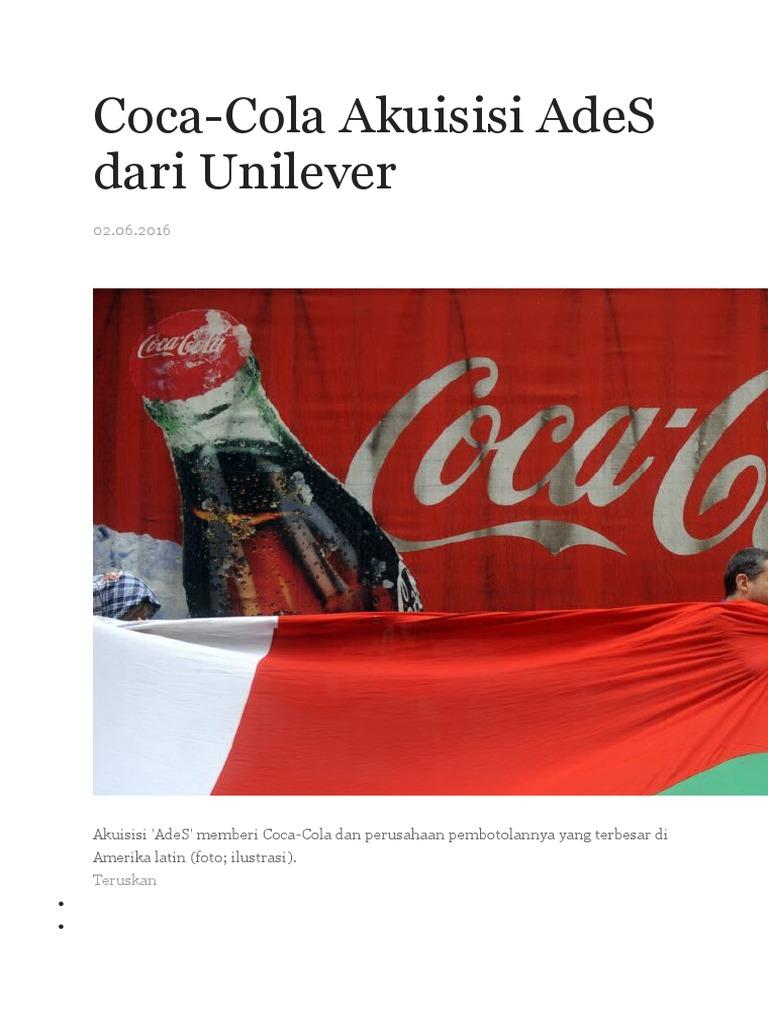 Coca Cola Diversifikasi Aliansi