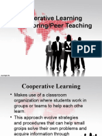 Cooperative Learning and Peer Tutoring