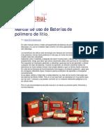 Consejos para baterias LIPO