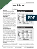 Datasheet - Low Pass Filter Design Tool