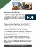 Early History Of Stalybridge