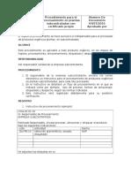 Procedimiento Para El Procesamiento en Subcontratados Con Propio Certifi...